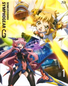 Rating: Safe Score: 19 Tags: bodysuit disc_cover headphones maria_cadenzavuna_eve senki_zesshou_symphogear stockings tachibana_hibiki thighhighs weapon User: sjl19981006