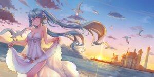 Rating: Safe Score: 34 Tags: cleavage dress hatsune_miku ice_(6597201) see_through skirt_lift summer_dress vocaloid User: BattlequeenYume
