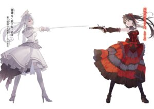 Rating: Safe Score: 26 Tags: date_a_live dress gothic_lolita gun heels heterochromia lolita_fashion noco sword thighhighs tokisaki_kurumi uniform User: kiyoe