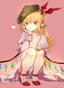 Rating: Questionable Score: 27 Tags: bra flandre_scarlet heels loli open_shirt pointy_ears risui_(suzu_rks) skirt_lift touhou wings User: Mr_GT