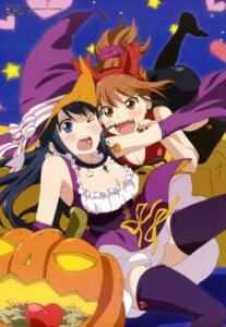 Rating: Safe Score: 63 Tags: cleavage halloween horns kurahashi_riko love_lab maki_natsuo takano_aya thighhighs witch User: drop