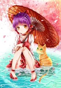 Rating: Safe Score: 29 Tags: dress gegege_no_kitaro heels neko neko_musume umbrella wet User: saemonnokami