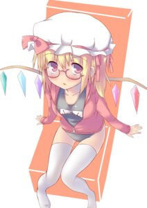 Rating: Safe Score: 18 Tags: flandre_scarlet megane school_swimsuit shinrutyu swimsuits thighhighs touhou User: Mr_GT