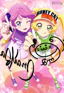 Rating: Safe Score: 19 Tags: aikatsu_friends! autographed chouno_maika hinata_ema_(aikatsu_friends!) miyadani_risa User: drop