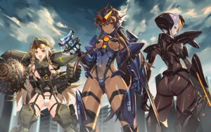 Rating: Safe Score: 50 Tags: ass bodysuit mecha_musume no_bra pacific_rim sigma99 stockings thighhighs thong weapon User: Mr_GT
