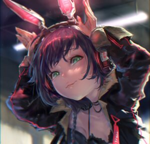 Rating: Safe Score: 30 Tags: animal_ears bunny_ears cleavage headphones yi_cat User: BattlequeenYume