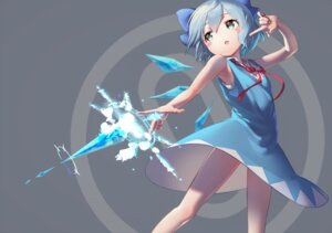 Rating: Questionable Score: 9 Tags: cirno dress gesoking06 skirt_lift touhou wings User: Dreista