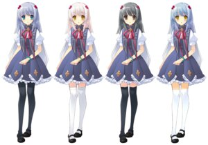 Rating: Safe Score: 15 Tags: flyable_heart ito_noizi pantyhose seifuku thighhighs yukishiro_suzuno User: fireattack