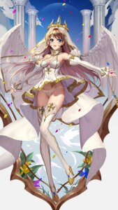 Rating: Questionable Score: 29 Tags: cleavage dress heels itoucon pantsu see_through skirt_lift thighhighs wings User: RyuZU