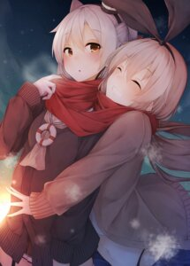 Rating: Safe Score: 85 Tags: amatsukaze_(kancolle) kantai_collection seifuku shimakaze_(kancolle) sweater waterdog User: Mr_GT
