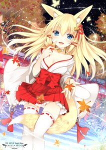 Rating: Questionable Score: 96 Tags: animal_ears cleavage duji_amo kitsune tail thighhighs User: fairyren
