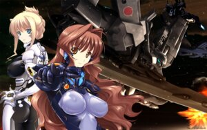 Rating: Questionable Score: 42 Tags: ass bodysuit erect_nipples gun ilfriede_von_feulner jinguuji_marimo jpeg_artifacts mecha miyata_ao muvluv muvluv_alternative_chronicles sword wallpaper User: nquanta