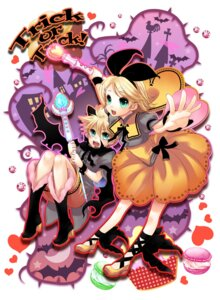 Rating: Safe Score: 4 Tags: dress halloween kagamine_len kagamine_rin tamara vocaloid wings User: charunetra