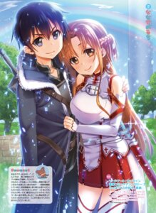 Rating: Safe Score: 14 Tags: armor asuna_(sword_art_online) kirito nanase_meruchi sword sword_art_online thighhighs User: Twinsenzw