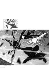 Rating: Questionable Score: 4 Tags: digital_version kasuga_ayumu_(artist) mecha monochrome saijaku_muhai_no_bahamut sketch sword User: fireattack