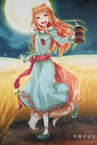 Rating: Safe Score: 11 Tags: animal_ears ayakura_juu dress holo spice_and_wolf tail User: JamesXeno