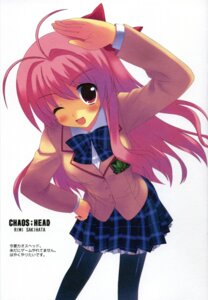 Rating: Safe Score: 17 Tags: chaos;head kiba_satoshi retro sakihata_rimi seifuku thighhighs User: admin2