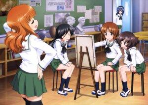 Rating: Safe Score: 18 Tags: akiyama_yukari girls_und_panzer isuzu_hana itou_takeshi nishizumi_miho reizei_mako seifuku takebe_saori thighhighs User: drop