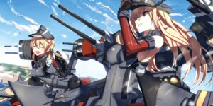 Rating: Safe Score: 48 Tags: bismarck_(kancolle) kantai_collection prinz_eugen_(kancolle) tsuuhan uniform User: nphuongsun93