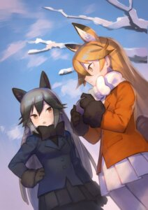 Rating: Safe Score: 15 Tags: animal_ears ezo_red_fox katahira kemono_friends pantyhose silver_fox User: nphuongsun93