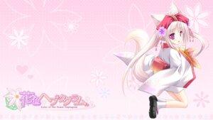 Rating: Safe Score: 30 Tags: animal_ears hanairo_heptagram kimono kitsune lump_of_sugar miyuri moekibara_fumitake tail wallpaper User: van