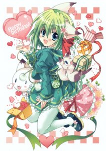 Rating: Safe Score: 23 Tags: animal_ears dress greenwood izumi_rei lolita_fashion midori nekomimi thighhighs User: midzki