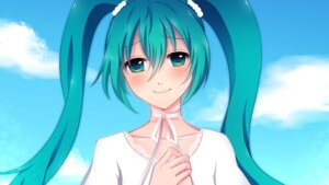 Rating: Safe Score: 12 Tags: fukufuku hatsune_miku vocaloid wallpaper User: mikkinightcore