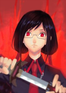 Rating: Safe Score: 8 Tags: blood-c blood_the_last_vampire kisaragi_saya kumo_ryuun megane sword User: Mr_GT