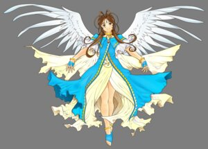 Rating: Safe Score: 9 Tags: ah_my_goddess belldandy dress transparent_png vector_trace wings User: gnarf1975