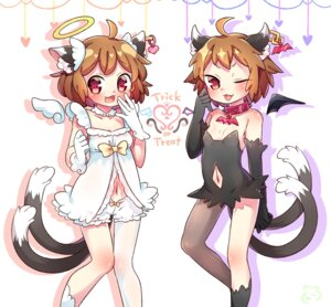 Rating: Safe Score: 6 Tags: animal_ears bloomers chen dress ibaraki_natou tail touhou wings User: Mr_GT