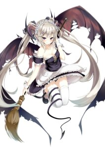 Rating: Questionable Score: 87 Tags: cleavage devil dress horns maid pantsu tail thighhighs wings yuui_hutabakirage User: KazukiNanako