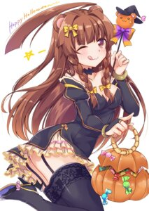 Rating: Safe Score: 58 Tags: animal_ears cleavage halloween heels kantai_collection kuma_(kancolle) stockings thighhighs yukina_(black0312) User: Mr_GT