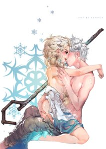 Rating: Explicit Score: 32 Tags: ass ass_grab crossover cum dress elsa frozen heels jack_frost_(rise_of_the_guardians) kawacy nopan rise_of_the_guardians see_through sex topless weapon User: mattiasc02