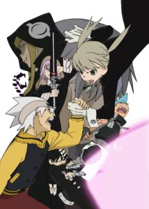 Rating: Safe Score: 8 Tags: black_star death_the_kid dr_franken_stein maka_albarn makenshi_chrona medusa_gorgon soul_eater soul_eater_(character) User: hecfa
