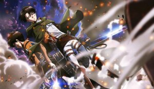 Rating: Safe Score: 18 Tags: eren_jaeger levi male shingeki_no_kyojin sword tagme uniform User: Radioactive
