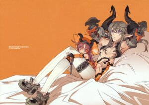 Rating: Safe Score: 16 Tags: blade devil horns megane pantsu pointy_ears string_panties tail thighhighs User: petopeto
