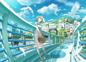 Rating: Safe Score: 45 Tags: dress gumi inoki-08 landscape summer_dress vocaloid User: RaulDJ747