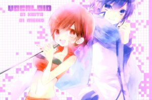 Rating: Safe Score: 9 Tags: kaito meiko shimeko vocaloid User: Radioactive
