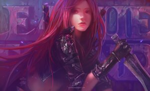 Rating: Safe Score: 63 Tags: armor chenbo katarina_du_couteau league_of_legends sword User: fairyren