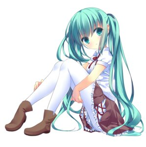 Rating: Safe Score: 49 Tags: hatsune_miku pantyhose totsuka vocaloid User: charunetra
