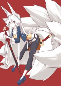 Rating: Safe Score: 27 Tags: amagi_mikoto animal_ears kitsune sword tail User: 23yAyuMe