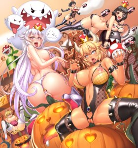 Rating: Explicit Score: 41 Tags: ass bikini bondage bowsette breasts extreme_content halloween heels horns lucknight new_super_mario_bros._u_deluxe nipples no_bra nopan pasties princess_bullet_bill princess_chain_chomp princess_king_boo princess_peach_toadstool pussy see_through skirt_lift swimsuits tentacles thighhighs thong uncensored User: LUCCO