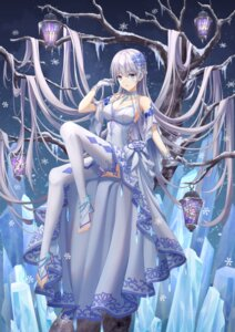 Rating: Safe Score: 16 Tags: cleavage dress rla058058 skirt_lift tagme thighhighs User: Dreista