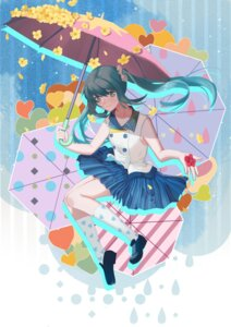 Rating: Safe Score: 14 Tags: hatsune_miku umbrella vocaloid yal User: animeprincess