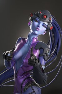Rating: Safe Score: 27 Tags: bodysuit cleavage no_bra open_shirt overwatch tagme widowmaker User: Radioactive