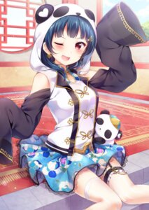 Rating: Safe Score: 48 Tags: asian_clothes garter hazuki_(sutasuta) love_live!_sunshine!! thighhighs tsushima_yoshiko User: Mr_GT