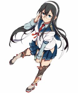 Rating: Questionable Score: 75 Tags: kantai_collection megane ooyodo_(kancolle) sblack seifuku thighhighs User: haeryelf