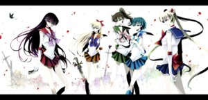 Rating: Safe Score: 12 Tags: aino_minako hino_rei jpeg_artifacts kino_makoto mizuno_ami nonrain sailor_moon sword tsukino_usagi User: charunetra