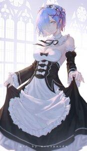 Rating: Questionable Score: 22 Tags: cleavage erospanda maid no_bra re_zero_kara_hajimeru_isekai_seikatsu rem_(re_zero) skirt_lift User: yanis