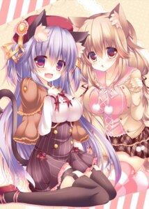 Rating: Questionable Score: 92 Tags: animal_ears nekomimi stockings suzune_rena tail thighhighs User: 椎名深夏